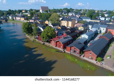 Sunny July day over Porvoo (aerial photography). Finland