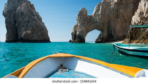 Sunny Lover's Beach in Cabo San Lucas, Mexico from Simple Tourist Boat