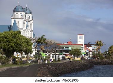 Sunny morning in Apia, the capital of Samoa.
