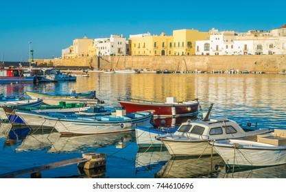 Sunny morning in Gallipoli, province of Lecce, Puglia (Apulia), southern Italy.