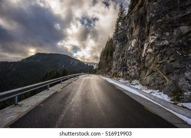 Sunny Mountain road