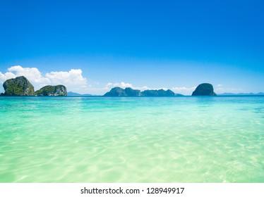 Sunny Panorama Marine Scene