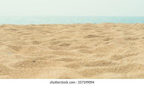sunny sand beach