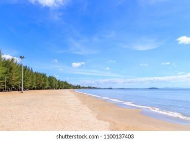 Sunny sea at Hat Laem Sing beach in Chanthaburi, east of Thailand