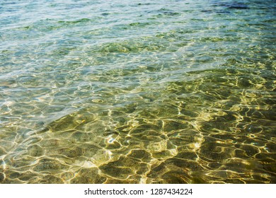 Sunny sea water surface