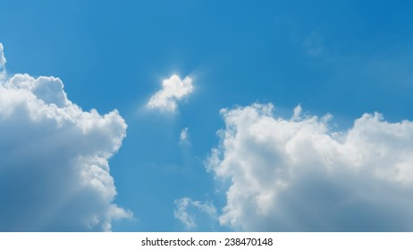 sunny skies, long rays of sun, a series of images