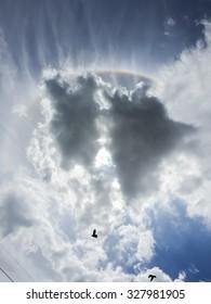 sunny sky with beautiful cloud.