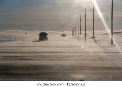 Sunny snowstorm, Norilsk