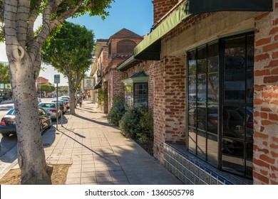 Sunny street vibe in Westwood, Los Angeles, California