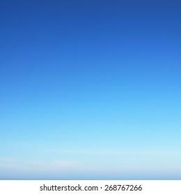 Sunny summer blue sky