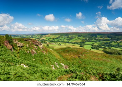 A sunny summer day over Botton in the North York Moors National Park in Yorkshire