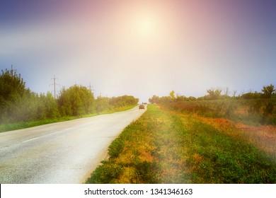 sunny summer road