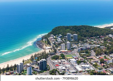 Sunny view of Burleigh Heads on the Gold Coast, Queensland Australia