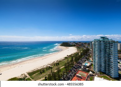 Sunny view of Coolangatta on the Gold Coast