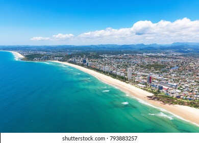 Sunny view of Miami and Burleigh Heads on the Gold Coast, Queensland, Australia