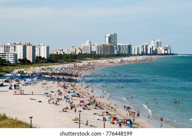 Sunny warm October day in Miami South Beach (Florida).