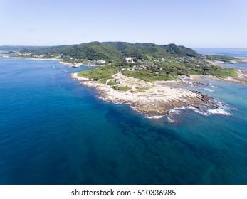 Sunosaki, Tateyama, Chiba, Japan aerial view