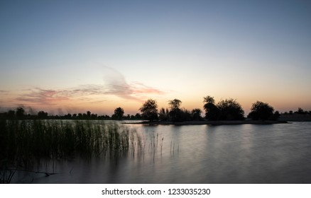 sunraise at al Qudra lake reserve, near Dubai