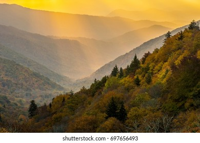 Sunrays in Great Smoky Mountains National Park