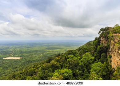 Sunris in Khao Phra Wihan National Park, pha mor e dang