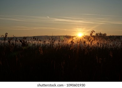 Sunrise above the Ammersee in Bavaria