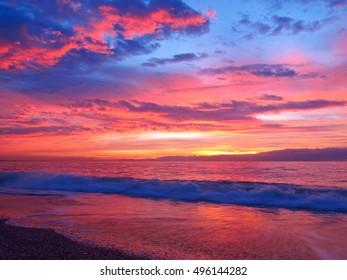 Sunrise in Aguadulce, Almeria