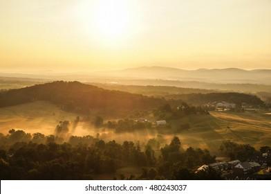 Sunrise in Albemarle County, Virginia