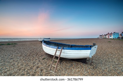 Sunrise at Aldeburgh, a pretty fishing village on the Suffolk coast