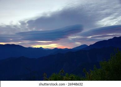 sunrise of Ali Mountain