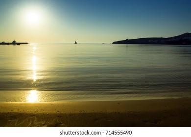 Sunrise in Andros island/Neiborio beach