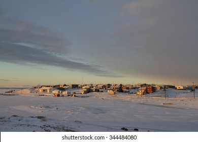Sunrise in the arctic community of Cambridge Bay