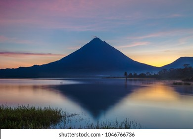 Sunrise in the Arenal Volcano