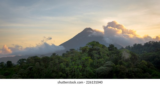 Sunrise at Arenal Volcano