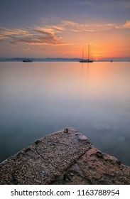 sunrise around the bay of cannes