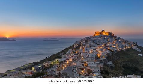 Sunrise at Astypalaia island Greece