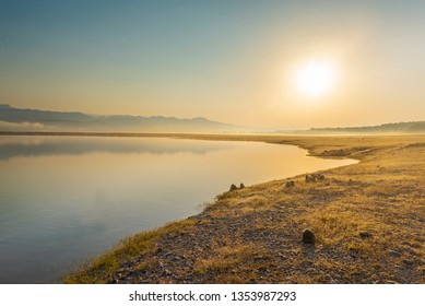 Sunrise with back ground of Ramganga River at Jim Corbett National Park, India