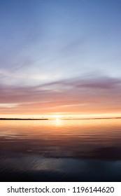 sunrise in Baltic sea