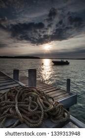 sunrise at baltic see