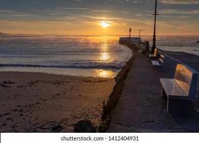 Sunrise at the Banjo Pier Looe Cornwall