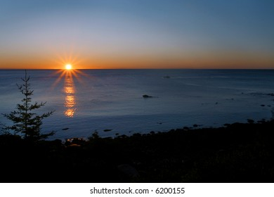 Sunrise in Bar Harbor Maine, Acadia National Park