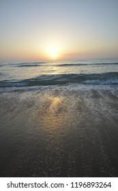 sunrise and beach