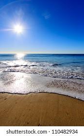 Sunrise at beach, Gold Coast Australia