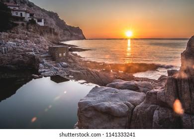 Sunrise in Begur, Costa Brava, Spain