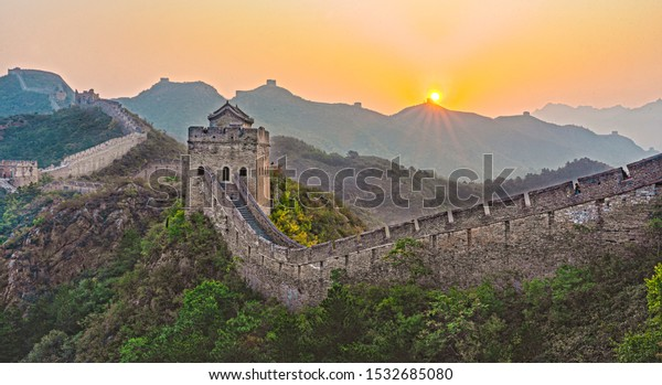 Sunrise of Beijing Great Wall