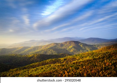 Sunrise at Blue Ridge Mountains