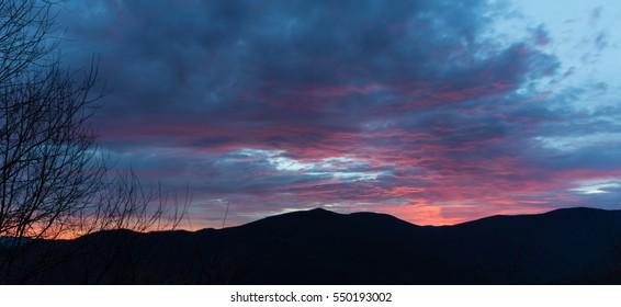 Sunrise, Blue Ridge Parkway, Great Smoky Mountains