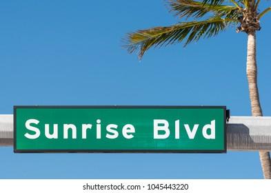 Sunrise Blvd sign