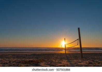 Sunrise in Brava beach in Florianopolis.