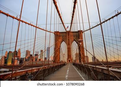 Sunrise at the Brooklyn Bridge