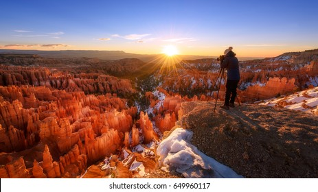Sunrise in Bryce Canyon National Park, Utah, America